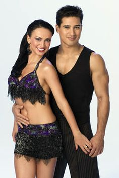 DWTS Season 3 Cast Celebrity Mario Lopez and Professional Karina Smirnoff Cheryl Burke, Show Dance, Guys And Dolls, Shall We Dance, Professional Dancers, Beautiful Costumes, Reality Tv Shows, Dancing With The Stars, Dance The Night Away