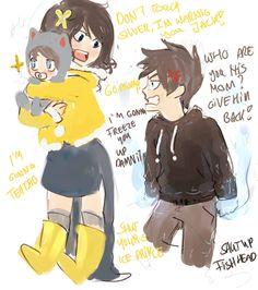 gruvia kids Grisa Jack, and Silver junior haha :D