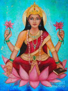 I've started doing my daily mantra meditation again and it feels good. Having experimented with different mantras over the years, I seem to be pulled back to the one that my guru Christine (… Goddess Art, Goddess Lakshmi, Oya Goddess, Sacred Feminine, Divine Feminine, Krishna, Shiva Tandav, Divine Mother, Hindu Deities