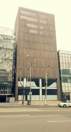 wood slats facade