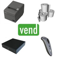 Vend POS Hardware Bundle with Epson TM-T20 Ethernet Printer and Socket Bluetooth Barcode Scanner suitable for Vend iPad App.   The Bundle Includes:  1 x Epson TM-T20 Ethernet Receipt Printer  1 x Socket 7Ci 1D Bluetooth Barcode Scanner  1 x Cash Drawer with 5 Notes & 8 Coin Sections  1 x Box 80x80 Thermal Paper Rolls (24Qty) Square Pos, Mobile Price, Ergonomic Mouse, Cash Register, Point Of Sale, Android Apps, Computer Mouse, Epson, Printer