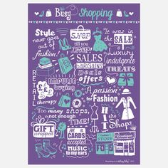Busy Shopping Print II, 20€, now featured on Fab.