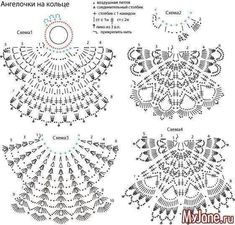 This Pin was discovered by Lup Crochet Diagram, Crochet Chart, Thread Crochet, Filet Crochet, Crochet Motif, Crochet Stitches, Knit Crochet, Crochet Christmas Ornaments, Christmas Crochet Patterns