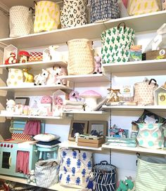 The shelves are loaded with goodies at Maling Road Toyshop, Canterbury. #kidsdecor #nurserydecor #nurseryinspo #nursery
