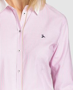 Camisa Oxford de mujer Lloyd's en rosa