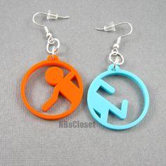 Portal Earrings by NBsCloset on Etsy, $10.00- Mom I neeeeeeeeeeeddddd these!!!!!!!!!!!!!!