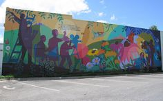 cool mural where the Lawrence Farmers market is
