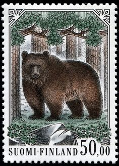 Finland-719BrownBear-8-30-89F1091Litho-PVahtero.jpg Photo by nethryk | Photobucket