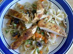 Pasta salad with Bake Chicken