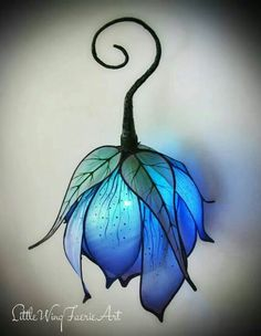 This hand held lantern will make the perfect festival or costume party night light. It is hand sculpted of silk haboti and wire and has been dyed and painted with care. A color changing battery powered led casts a soft glow, and is easily accessed for rep Led Lantern, Lantern Crafts, Lantern With Fairy Lights, Fairy Lanterns, Hanging Lanterns, Bedroom Themes, Nursery Themes, Bedroom Colors, Bedroom Designs