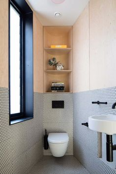 Space Saving Toilet Design for Small Bathroom 45 Minimalist Bathroom Design, Bathroom Interior Design, Modern Bathroom, Small Bathroom, Modern Minimalist, Bathroom Ideas, Interior Decorating, Bathroom Designs, Cosy Bathroom