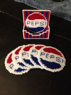Pepsi coaster made by me adapted from image seen online