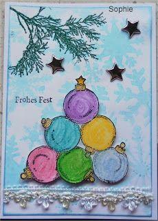 Sophie's Art: Weihnachtskugeln...