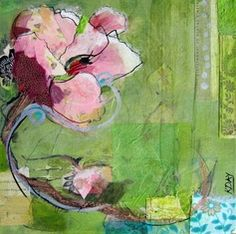 """Open, mixed media on canvas, 10"""" x 10"""" by Kellie Day"""