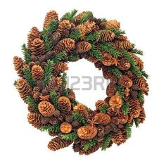 Christmas pinecone wreath photo