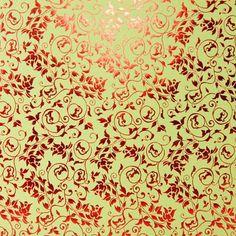 Papier+Bollywood+120+g+-+Vert+/+Rouge+-+50+x+70+cm