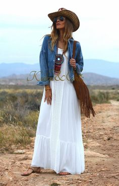 Boho Dresses Sale up to off Look Boho, Bohemian Style, Boho Chic, Mode Outfits, Chic Outfits, Estilo Hippie, Hippie Outfits, Rock, Fashion 2020