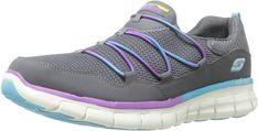 Skechers Sport Women's Loving Life Fashion Sneaker,Charcoal/Multi,9.5 M US: Amazon.ca: Shoes & Handbags
