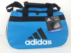 NWT Adidas Diablo Small Duffel Bag Blue/Black/White Sport Gym Travel Carry On  #adidas #ebay #adidas #DiabloSmallDuffelBag #SportGymBlueBlackWhite