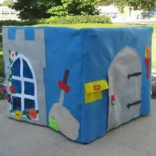 The King's Castle Card Table Playhouse, Custom Order, Personalized, Includes A Crown for the King Card Table Playhouse, Castle Playhouse, Playhouse Ideas, Activities For Kids, Crafts For Kids, Table Tents, Kids Corner, Table Cards, Felt Toys