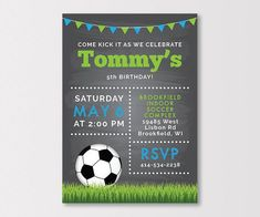 This item is unavailable Soccer Party Favors, Soccer Birthday Parties, Ball Birthday, Birthday Party Themes, Birthday Cakes, Invitation Fete, Zazzle Invitations, Birthday Invitations, Kids Soccer