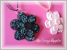 Lovely quilled necklaces
