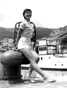 Audrey Hepburn photographed by Edward Quinn in Monaco for the production of ''Monte Carlo Baby'', 1952.