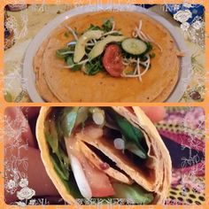 Veggie Wrap / Tortillas #veggie #vegetarian Vegan Food, Vegan Recipes, Veggie Wraps, Tortillas, Veggies, Mexican, Vegetarian, Ethnic Recipes, Vegetarian Wraps