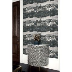 Seabrook Wallpaper LD81908 - Lux Decor - Scenic design wallcovering in a detail room photo