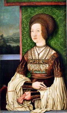 Strigel,Bernhard (1460-1528) Bianca Maria Sforza, second wife of Emperor Maximilian. Wood (1505-1510) Austria