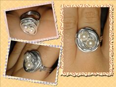 Wrapped ring #pearl#ring#wrapped#wire#handmade