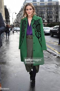 Oliva Palermo is seen arriving at Nina Ricci fashion show during the Paris Fashion Week Womenswear Fall/Winter 2017/2018 on March 4 2017 in Paris...