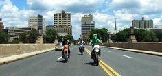 The crew rolling down the Market street bridge headed to City Island Sumo, Bridge, Street View, Island, Lifestyle, City, Bridge Pattern, Bridges, Islands