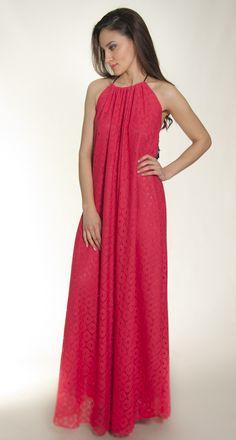 dress coral lace