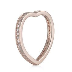 Diamonique 0.4ct tw Heart Shaped Profile Ring Sterling Silver