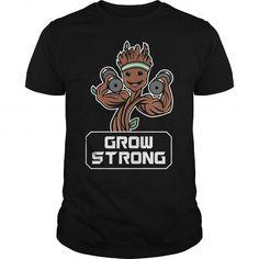 I Love Groot Grow Strong Galaxy Gym Fitness Mashup TShirt Shirts & Tees