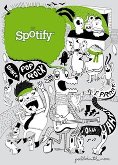 Image result for spotify infographic