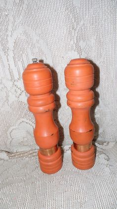 Shabby chic orange distressed retro salt and by FabulousFinds1, $24.95