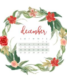Deck the halls! Come and grab your free December calendar wallpaper -- for mobile devices and desktop/laptop! Tis the season!