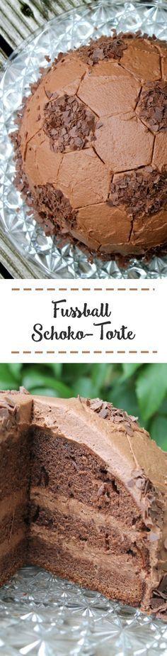 Fußball-Schoko-Torte // Fußballtorte