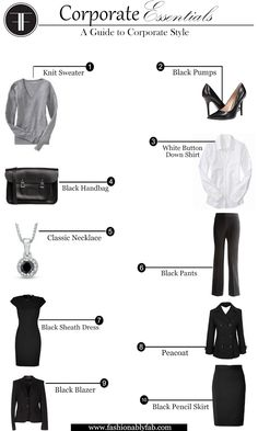 Elements of Corporate Style. Corporate attire and must-haves.