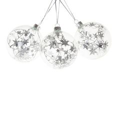 Bauble with Stars Inside (Set of 3) - Decoration - Collection - Christmas | Zara Home United States of America