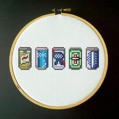 Beer Can Collection PDF Cross Stitch Pattern by LadyBeta on Etsy, $3.00