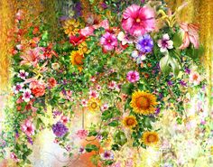 Flower Watercolor jigsaw puzzle in Flowers puzzles on TheJigsawPuzzles.com