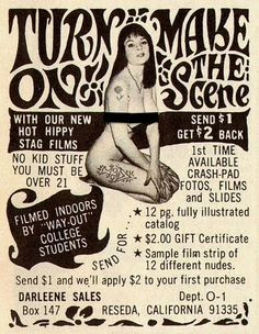 Can't lie, there was a time I would have been interested.probably today's TV is more risque! Vintage Labels, Vintage Ads, Vintage Posters, Weird Vintage, Vintage Images, Gift Certificate Sample, Stag Film, Film Strip, Old Ads