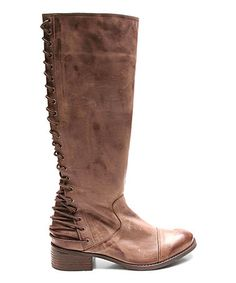 Another great find on #zulily! Brown Lockdown Leather Boot #zulilyfinds