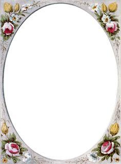 Floral Vintage Border Frame | Call Me Victorian