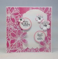 Card created using Julie Loves Blooming Brights Creativity Box, made by Julie Hickey.