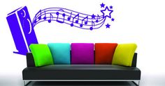 Change the look of your rooms in a heartbeat with Dezign With a Z's Melody home wall vinyl. Order Melody home wall vinyl today! Modern Wall Stickers, Custom Wall Decals, Wall Appliques, Guitar Wall, 3d Home, Music Wall, Decorate Your Room, Vinyl Designs, Creative Decor