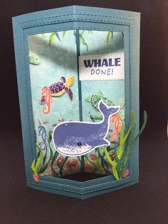 Stampin Up Karten, Stampin Up Cards, Boy Cards, Kids Cards, Fancy Fold Cards, Folded Cards, Nautical Cards, Beach Cards, Under The Sea Party